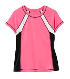 Exertek® Girls' 7-16 Short Sleeve Color Block Tee