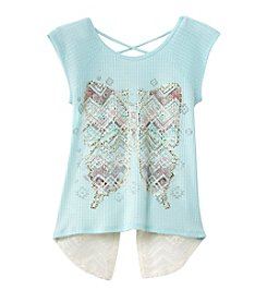 Beautees Girls' 7-16 Butterfly Tee