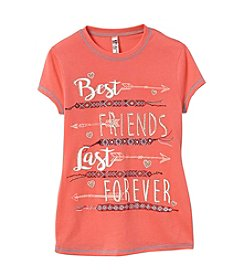 Beautees Girls' 7-16 Best Friends Forever Short Sleeve Tee