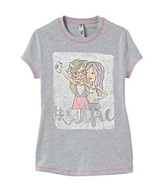 Beautees Girls' 7-16 Selfie Girls Short Sleeve Tee