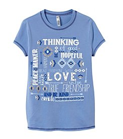 Beautees Girls' 7-16 Positive Message Short Sleeve Tee