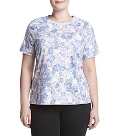 Studio Works® Plus Size Wildflower Crew Top