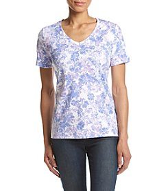 Studio Works® Petites' Printed V-Neck Tee