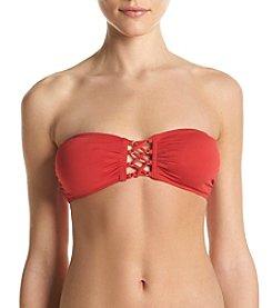 MICHAEL Michael Kors® Lace Up Bandeau Bikini Top