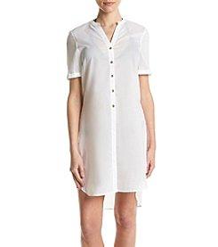 MICHAEL Michael Kors® High Slit Cover Up Shirt Dress