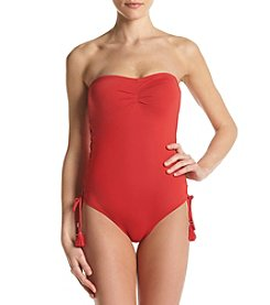 MICHAEL Michael Kors® Lace Up Bandeau One Piece