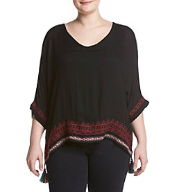 Democracy Plus Size Embroidery Top