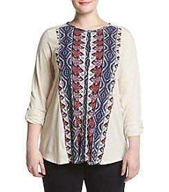 Lucky Brand® Plus Size Placed Print Top
