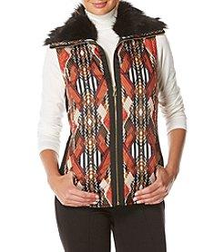 Rafaella® Petites' Diamond Geo Puffer Vest