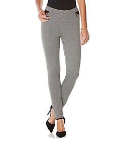 Rafaella® Petites' Houndstooth Jacquard Pants