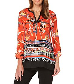 Rafaella® Petites' Floral Woven Shirt