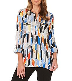 Rafaella Petites' Stained Glass Georgette Top