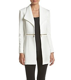 Kasper® Diamond Knit Jacket
