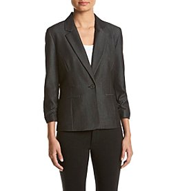 Nine West® Denim Ruched Sleeve Jacket