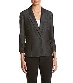 Nine West® Denim Ruched Sleeve Jacket