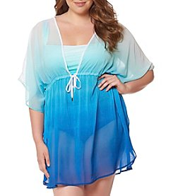 Bleu|Rod Beattie® Plus Size Ombre Caftan