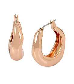 Robert Lee Morris Soho™ Small Sculptural Hoop Earrings