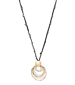 Robert Lee Morris Soho™ Layered Sculptural Ring Pendant Necklace