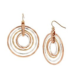 Robert Lee Morris Soho™ Layered Hammered Sculptural Rings Drop Earrings