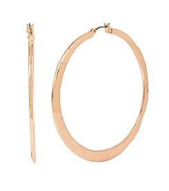 Robert Lee Morris Soho™ Medium Hammered Hoop Earrings