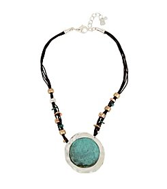 Robert Lee Morris Soho™ Patina Sculptural Pendant Necklace
