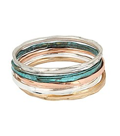 Robert Lee Morris Soho™ Patina Sculptural Bangle Bracelet Set