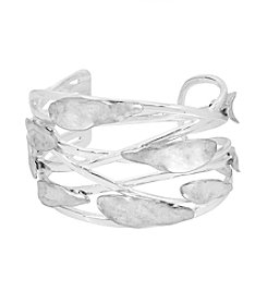 Robert Lee Morris Soho™ Sculptural Petal Cut Out Cuff Bracelet