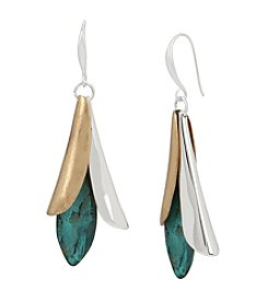 Robert Lee Morris Soho™ Patina Mixed Metal Sculptural Petal Drop Earrings