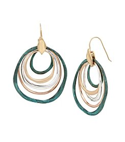 Robert Lee Morris Soho™ Patina Mixed Metal Orbital Earrings
