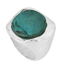 Robert Lee Morris Soho™ Patina Stone Sculptural Ring, Size 8.5