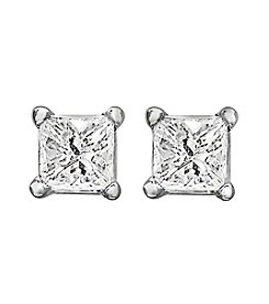Effy® .14 ct. t.w. Diamond Earrings in 14K White Gold