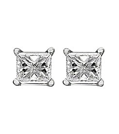 Effy® .25 ct. t.w. Diamond Earrings in 14K White Gold
