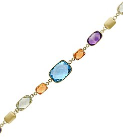 Effy® 14K Yellow Gold Gem Stone Tennis Bracelet