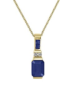 Effy® 14K Yellow Gold Natural Sapphire and Diamond Pendant
