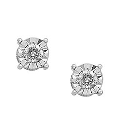 Effy® .73 ct. t.w. Diamond Miracle Plate Earrings in 14K White Gold