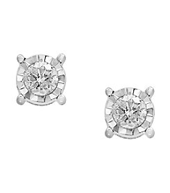 Effy® 14K White Gold .73 ct. t.w. Diamond Miracle Plate Earrings