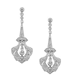 Effy® .54 ct. t.w. Diamond Miracle Plate Earrings in 14K White Gold