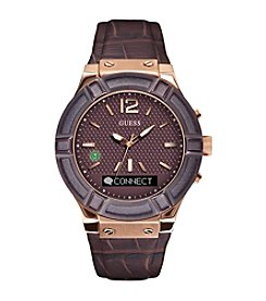 GUESS Connect Burgundy Smart Watch
