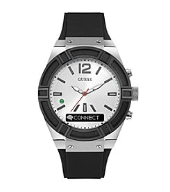 GUESS Connect Black And White Smart Watch