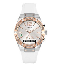 GUESS Connect White Crystal Bezel Smart Watch
