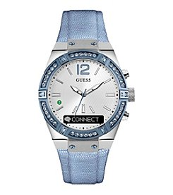GUESS Connect Blue Crystal Bezel Smart Watch