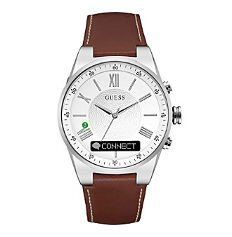 GUESS Connect Brown Textured Dial Smart Watch