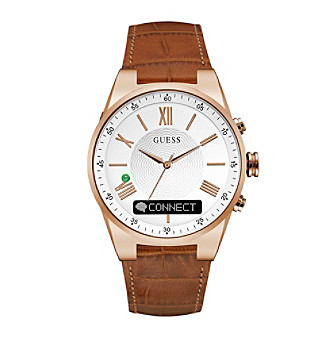 GUESS Connect Tan Textured Dial Smart Watch