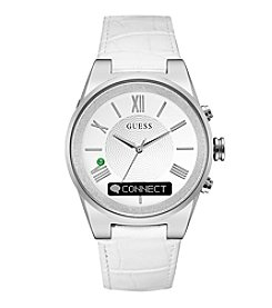 GUESS Connect White Textured Dial Smart Watch, 41mm