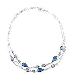 Gloria Vanderbilt™ Double Row Frontal Necklace