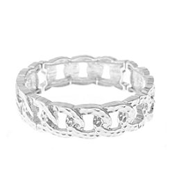 Gloria Vanderbilt Hammered Large Link Stretch Bracelet