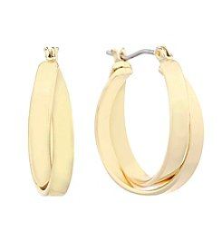 Gloria Vanderbilt™ Wide Band Clicktop Hoop Earrings
