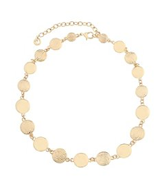 Gloria Vanderbilt® Disc Collar Necklace