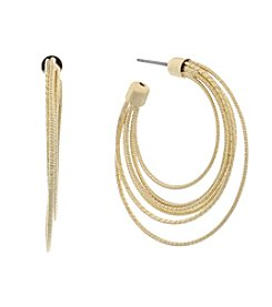 Gloria Vanderbilt™ Six Row C Hoop Earrings