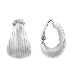 Gloria Vanderbilt™ Textured C Hoop Clip Earrings
